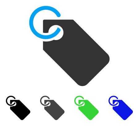 Tag vector pictogram. Style is a flat graphic symbol in black, grey, blue, green color variants. Designed for web and mobile apps. Illustration