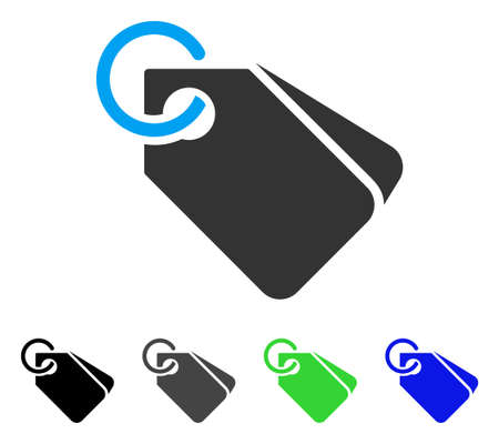 Tags vector pictogram. Style is a flat graphic symbol in black, grey, blue, green color versions. Designed for web and mobile apps.