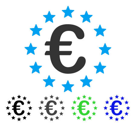 European Union vector pictogram. Style is a flat graphic symbol in black, gray, blue, green color variants. Designed for web and mobile apps. Illustration
