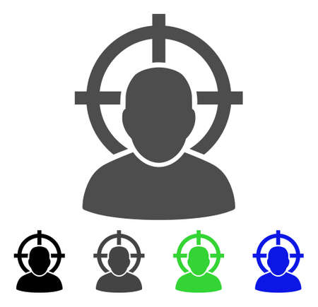concurrent: Shoot Person vector pictogram. Style is a flat graphic symbol in black, grey, blue, green color versions. Designed for web and mobile apps.