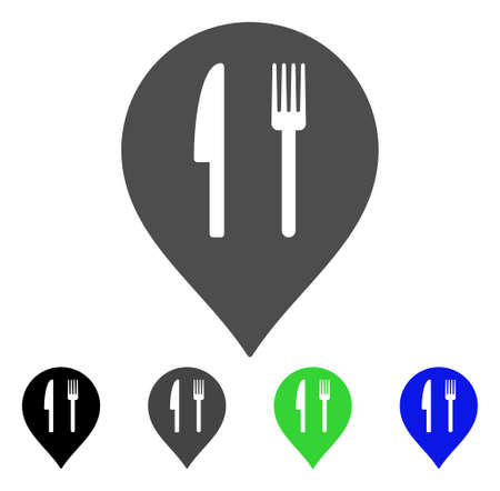 Cafe Marker vector icon. Style is a flat graphic symbol in black, grey, blue, green color versions. Designed for web and mobile apps.