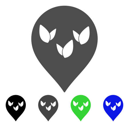 Flora Field Marker vector icon. Style is a flat graphic symbol in black, grey, blue, green color versions. Designed for web and mobile apps. Illustration