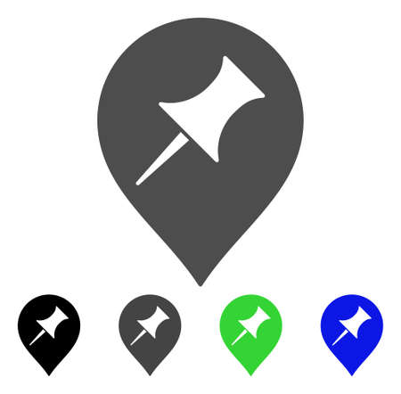 Interest Pin Marker vector icon. Style is a flat graphic symbol in black, grey, blue, green color variants. Designed for web and mobile apps. Illustration