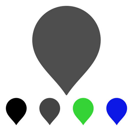Map Pointer vector pictogram. Style is a flat graphic symbol in black, grey, blue, green color variants. Designed for web and mobile apps. Illustration