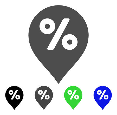 topografia: Percent Map Marker vector pictograph. Style is a flat graphic symbol in black, gray, blue, green color versions. Designed for web and mobile apps. Vectores