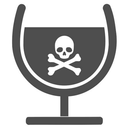 toxic substance: Poison Glass vector pictograph. Style is flat graphic gray symbol.