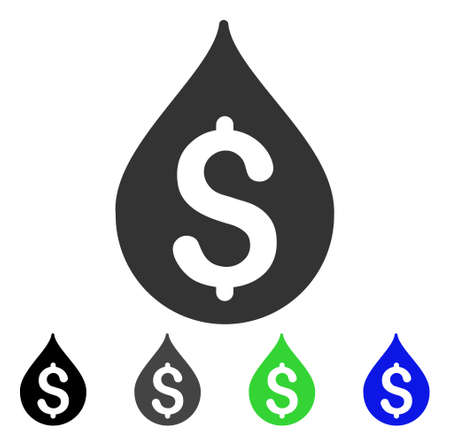 Money Drop icon. Vector illustration style is a flat iconic money drop symbol with black, gray, green, blue color versions. Designed for web and software interfaces. 矢量图像