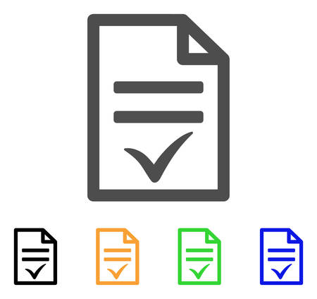 Agreement Document vector pictogram. Style is a flat graphic symbol in grey, black, yellow, blue, green color versions. Designed for web and mobile apps.