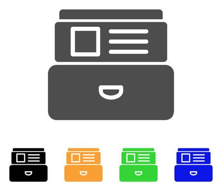 カード索引ベクトル絵文字。スタイルは、グレー、黒、黄色、青、緑のカラー バリエーションでフラット グラフィック シンボルです。ウェブ アプリやモバイル アプリのために設計されています。
