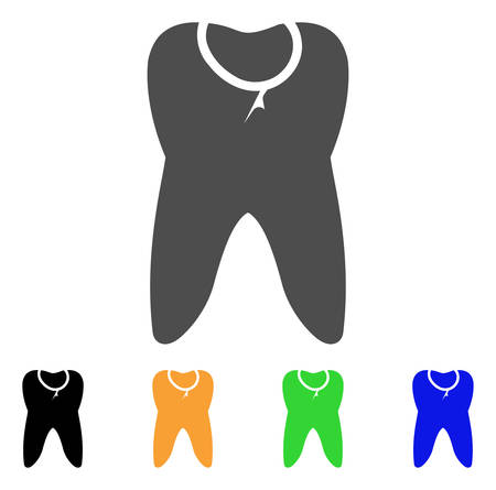 cleft: Caries Tooth vector pictograph. Style is a flat graphic symbol in gray, black, yellow, blue, green color variants. Designed for web and mobile apps.
