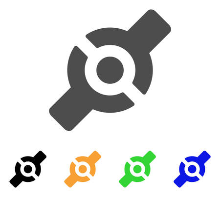 install: Artificial Joint vector pictograph. Style is a flat graphic symbol in grey, black, yellow, blue, green color variants. Designed for web and mobile apps. Illustration