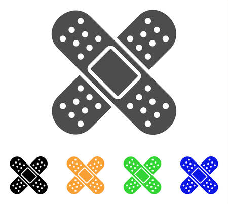 Bandage vector icon. Style is a flat graphic symbol in gray, black, yellow, blue, green color versions. Designed for web and mobile apps.  イラスト・ベクター素材