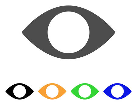 Blind Eye vector pictograph. Style is a flat graphic symbol in grey, black, yellow, blue, green color versions. Designed for web and mobile apps. Illustration