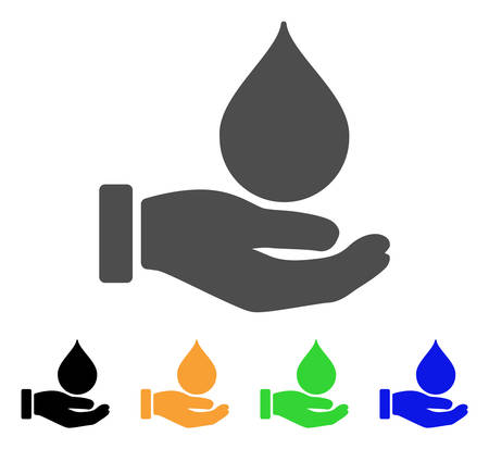 Blood Donation Hand vector pictogram. Style is a flat graphic symbol in grey, black, yellow, blue, green color variants. Designed for web and mobile apps.