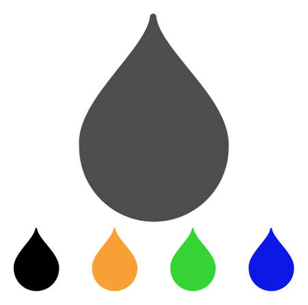 Drop vector pictogram. Style is a flat graphic symbol in gray, black, yellow, blue, green color variants. Designed for web and mobile apps.