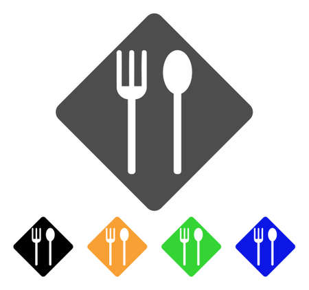 eating utensil: Fork And Spoon vector pictogram. Style is a flat graphic symbol in grey, black, yellow, blue, green color variants. Designed for web and mobile apps.