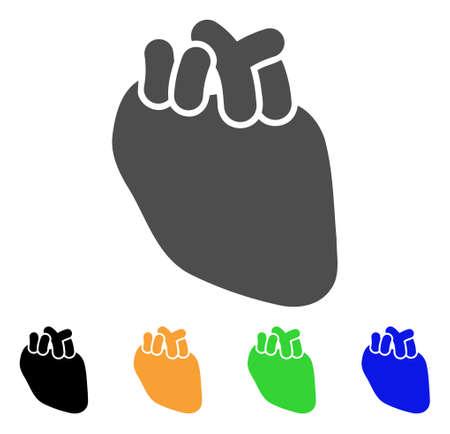 Heart Organ vector icon