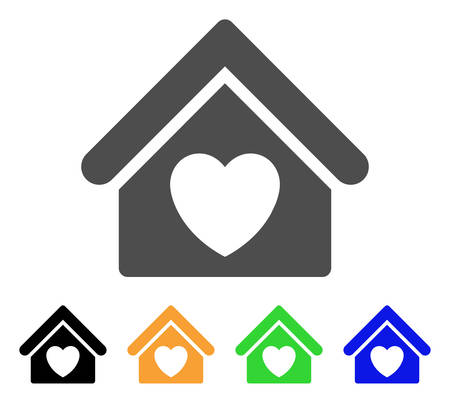 Hospice vector pictograph. Style is a flat graphic symbol in gray, black, yellow, blue, green color versions. Designed for web and mobile apps. Ilustração