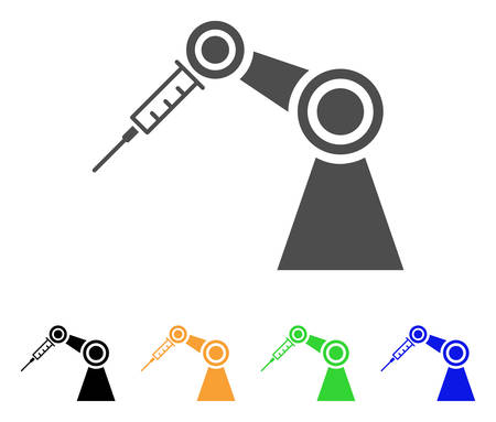 Medical Inject Robot vector pictogram