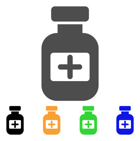 Medication Phial vector pictograph