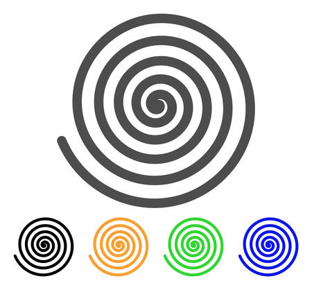 Hypnosis Spiral vector pictogram. Style is a flat graphic symbol in gray, black, yellow, blue, green color variants. Designed for web and mobile apps. Stock Vector - 85211683