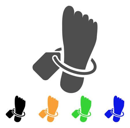 Morgue Tagged Foot vector icon