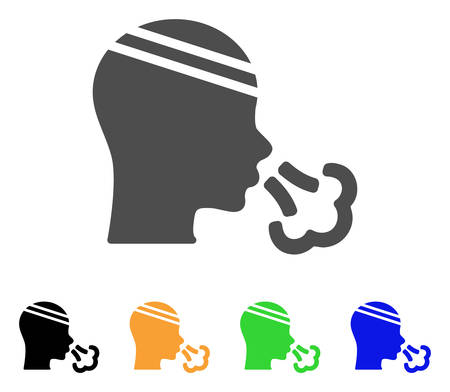 Patient Sneeze vector pictograph. Style is a flat graphic symbol in grey, black, yellow, blue, green color versions. Designed for web and mobile apps. Illustration