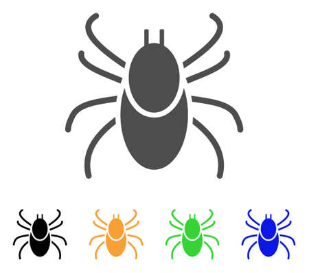 Mite Tick vector pictogram. Style is a flat graphic symbol in gray, black, yellow, blue, green color variants. Designed for web and mobile apps.