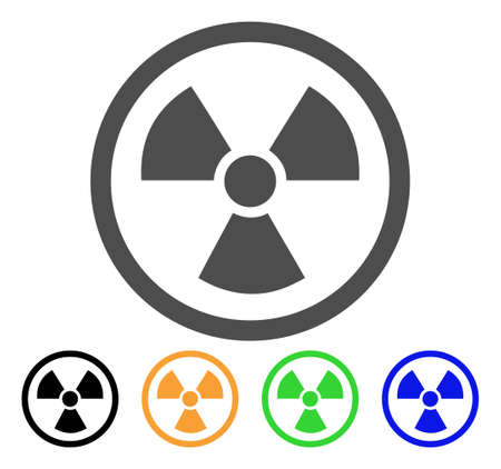 Radioactive vector icon. Style is a flat graphic symbol in grey, black, yellow, blue, green color versions. Designed for web and mobile apps. Illustration