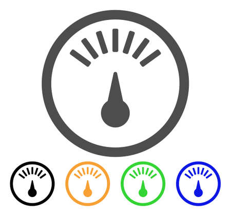 dashboard: Weight Gauge vector pictogram. Style is a flat graphic symbol in grey, black, yellow, blue, green color variants. Designed for web and mobile apps.