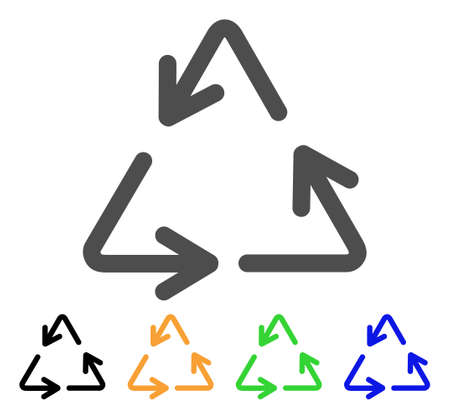 Recycle vector pictogram. Style is a flat graphic symbol in gray, black, yellow, blue, green color versions. Designed for web and mobile apps.