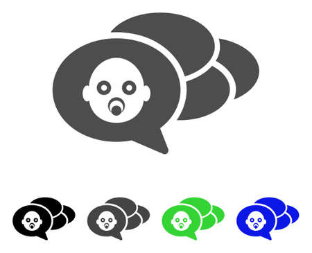 Baby Dreams icon. Vector illustration style is a flat iconic baby dreams symbol with black, grey, green, blue color versions. Designed for web and software interfaces.