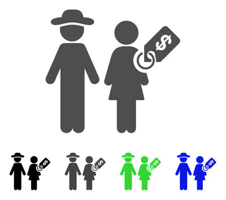 Marriage Of Convenience icon. Vector illustration style is a flat iconic marriage of convenience symbol with black, grey, green, blue color versions. Designed for web and software interfaces.