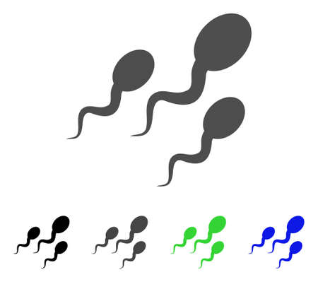 virus bacteria: Sperm icon. Vector illustration style is a flat iconic sperm symbol with black, grey, green, blue color variants. Designed for web and software interfaces.