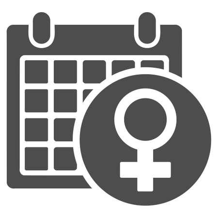 Female Calendar vector icon. Style is flat graphic gray symbol. Illustration