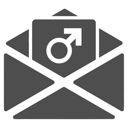 Penis Enhancement Spam vector pictograph. Style is flat graphic gray symbol.
