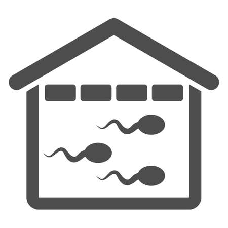 virus bacteria: Sperm Bank vector icon. Style is flat graphic gray symbol.