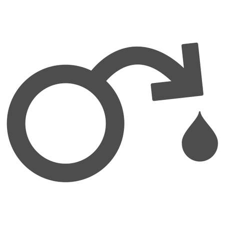 impotence: Venereal Disease Impotence vector icon. Style is flat graphic grey symbol.