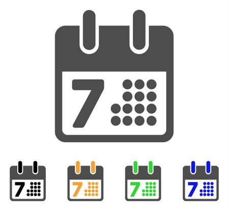 Calendar day page icon illustration. Illustration