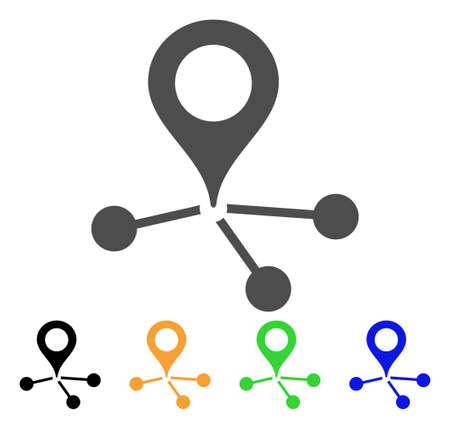 Icono de vínculos de área.