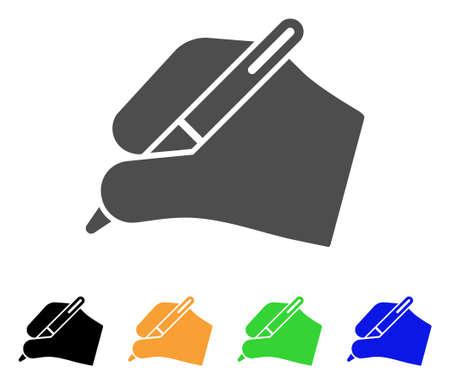 Signature hand icon.