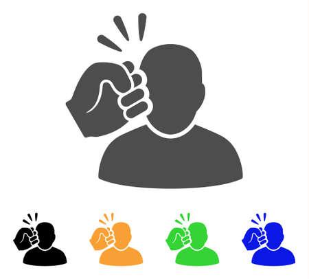 Crime violation fist strike icon.