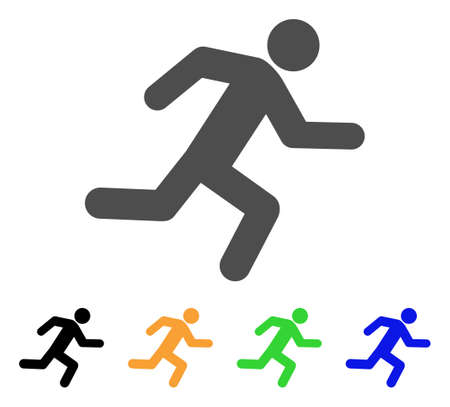 Running Man Icon Vector Illustration Style Is A Flat Iconic