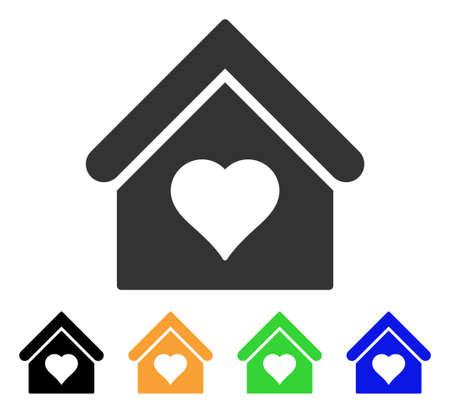 Love house icon illustration.