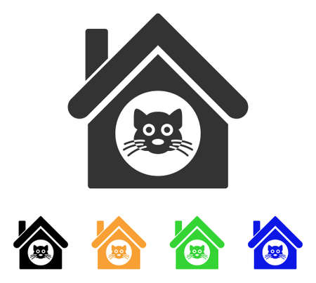 gray cat: A cat house icon.