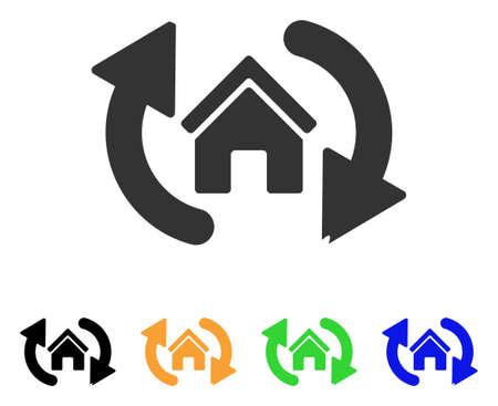 집 업데이트 아이콘입니다.