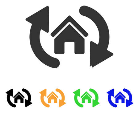 Update House icon. Illustration