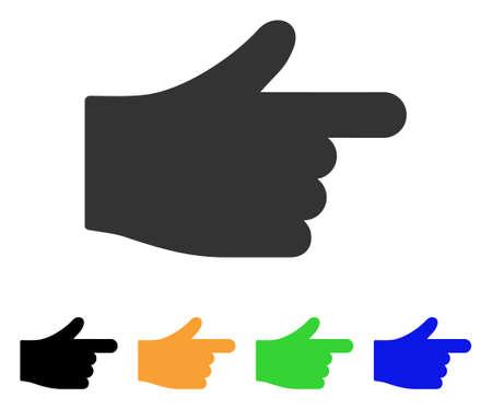 Index Hand-Symbol. Vektorgrafik