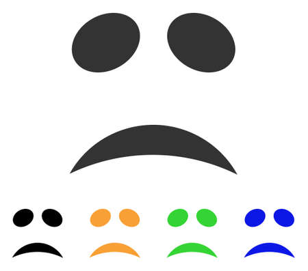Sad emoticon icon.