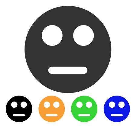 Neutral emoticon map marker symbol with black, grey, green, blue, yellow color variants, Designed for web and software interfaces.